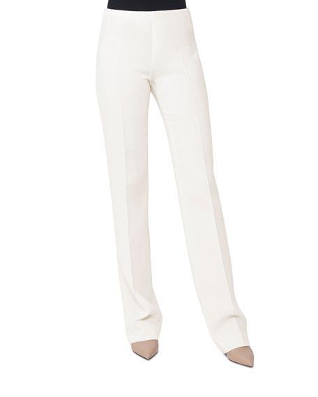 Carol Wool-Crepe Straight-Leg Pants