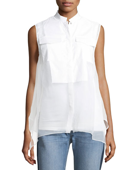 Brunello Cucinelli Layered Sleeveless Silk Blouse
