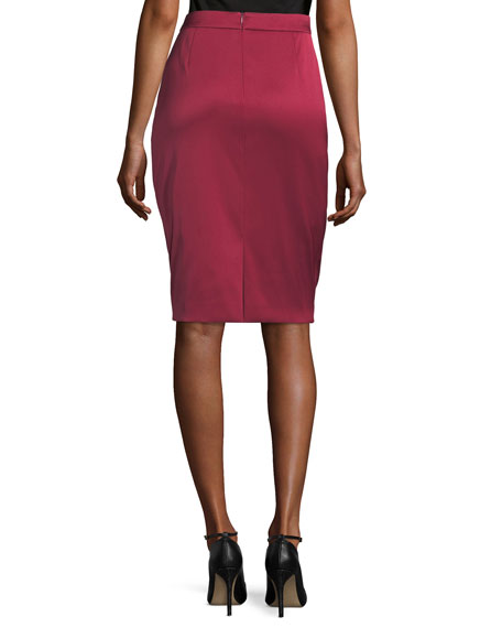 Ravas Duchesse Satin Pencil Skirt
