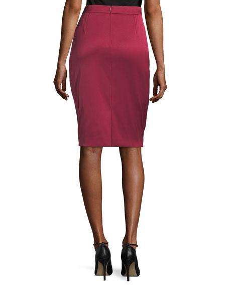 Ravas Duchesse Satin Pencil Skirt