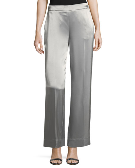 Escada Satin Wide-Leg Pants