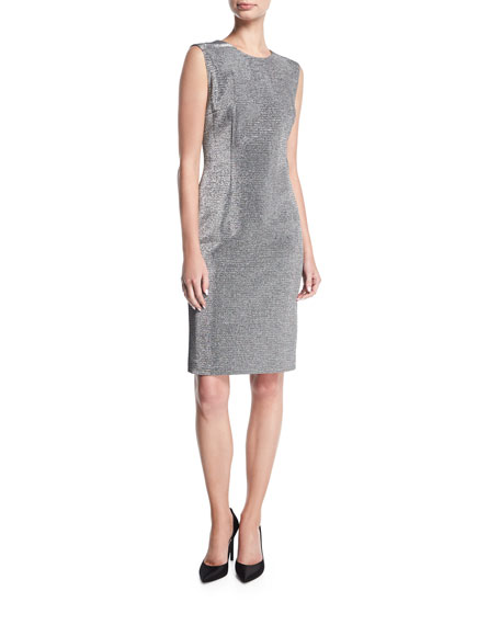 Lurex® Sleeveless Cocktail Sheath Dress