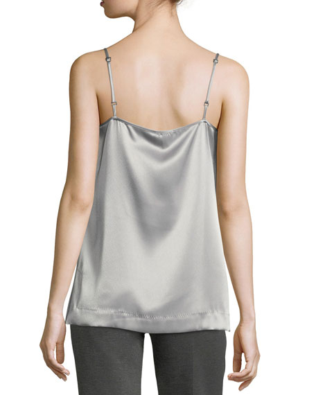 Satin V-Neck Tank Top
