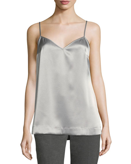 Escada Satin V-Neck Tank Top