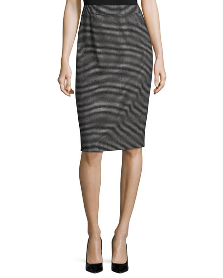 Escada Ravas Pixie-Print Pencil Skirt