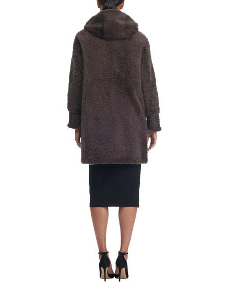 Reversible Lambskin Coat with Fur Lining