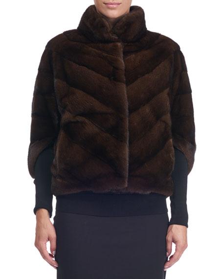 Maurizio Braschi Chevron Mink Fur Jacket