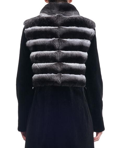 Sheared Mink Stroller Coat