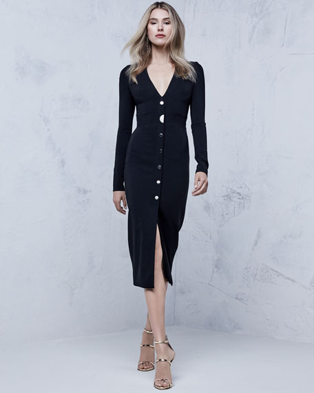 Paola Bustier Midi Dress