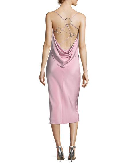 Irina Strappy-Back Slip Dress