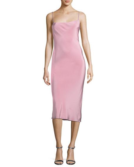Cushnie Et Ochs Irina Strappy-Back Slip Dress