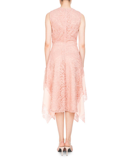 Alana Sleeveless High-Neck Lace Cocktail Dress