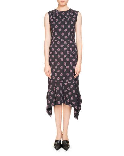 Elvie Sleeveless Floral-Print Midi Dress
