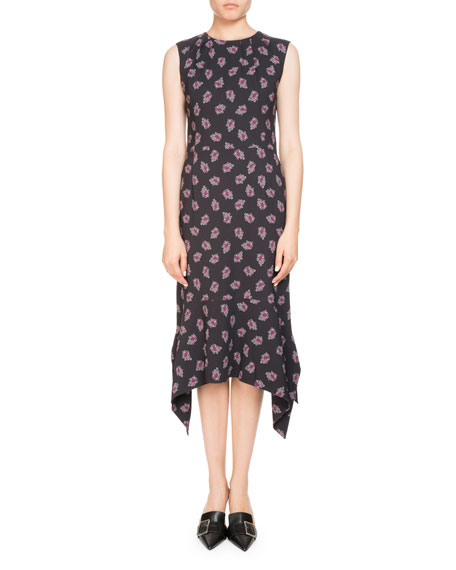 Altuzarra Elvie Sleeveless Floral-Print Midi Dress