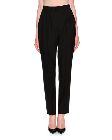Dolce & Gabbana High-Waist Virgin Wool Pants