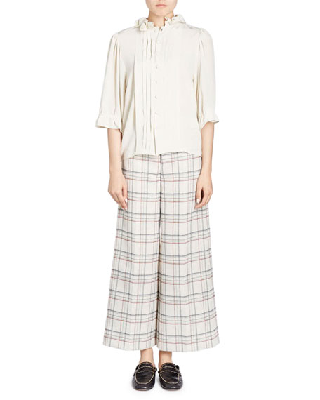 Isabel Marant Trevi Prince Of Wales Check Wide-Leg