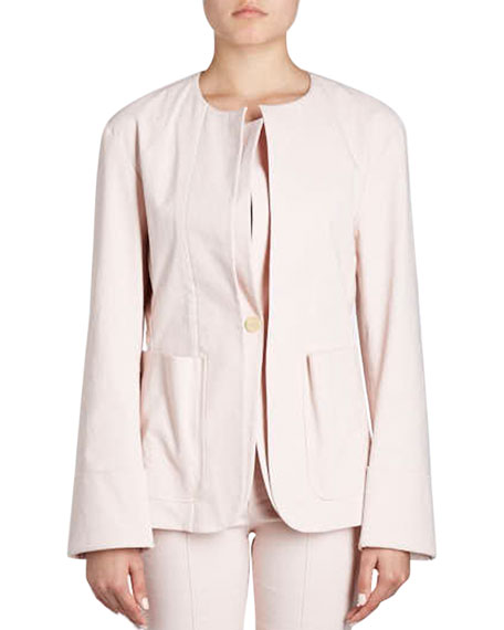 Leona Double-Lapel One-Button Blazer