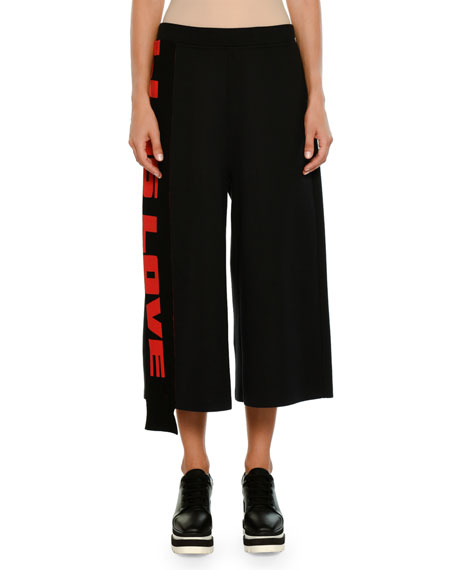 All-Is-Love Wide-Leg Cropped Track Pants