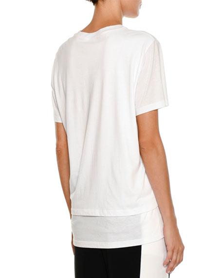 Destination Layered Crewneck Short-Sleeve Cotton T-Shirt