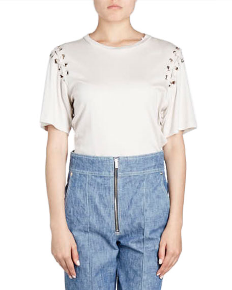 Isabel Marant Namiris Zip-Front Peg-Leg Jeans and Matching