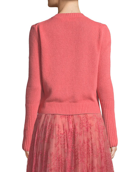 Cashmere Kendall Knit Crewneck Long-Sleeve Sweater