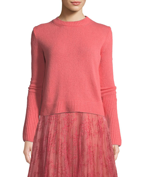 Brock Collection Cashmere Kendall Knit Crewneck Long-Sleeve