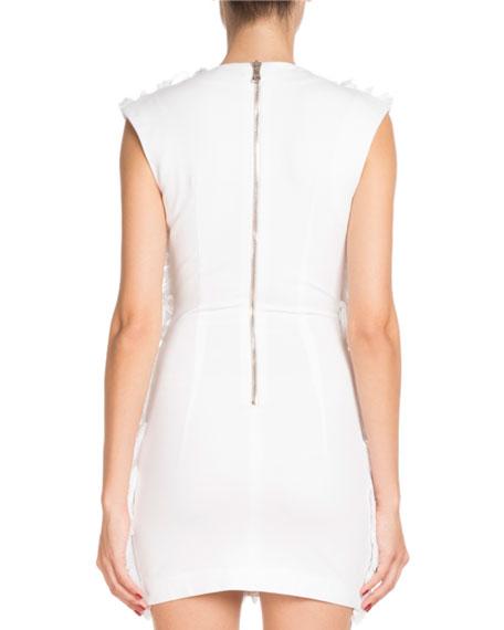 Sleeveless Deep-V Short Fringed Cotton Dress