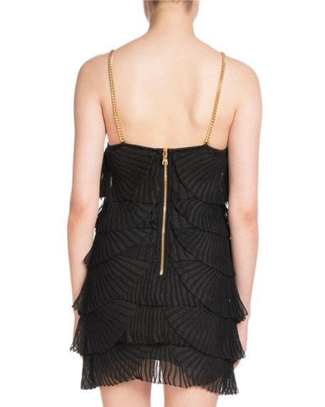 Sleeveless Layered Plisse Tank Mini Dress