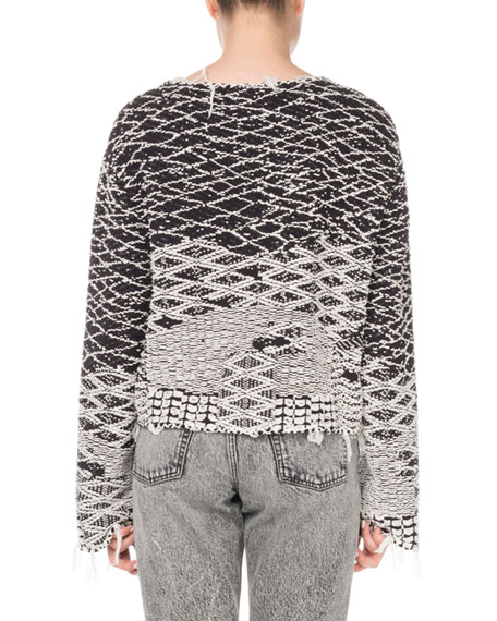 Raw-Edge Pullover Sweater