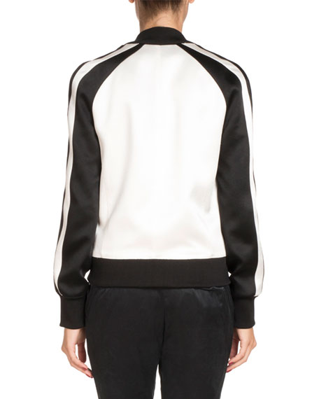 Bicolor Double-Breasted Track Jacket