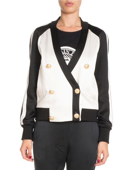 Balmain Sleeveless Crewneck Coin Logo Jersey Tank and