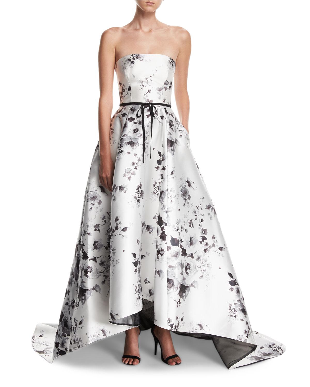 Monique Lhuillier Floral Gown | Neiman Marcus