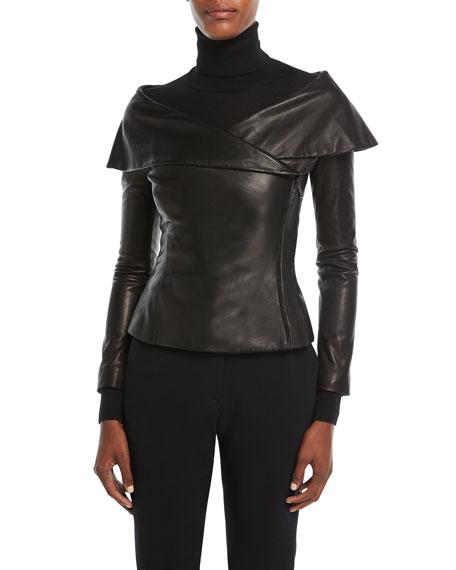 Ralph Lauren Collection Maxine Leather Jacket