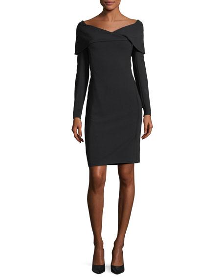 Ralph Lauren Collection Maxine Portrait-Collar Dress