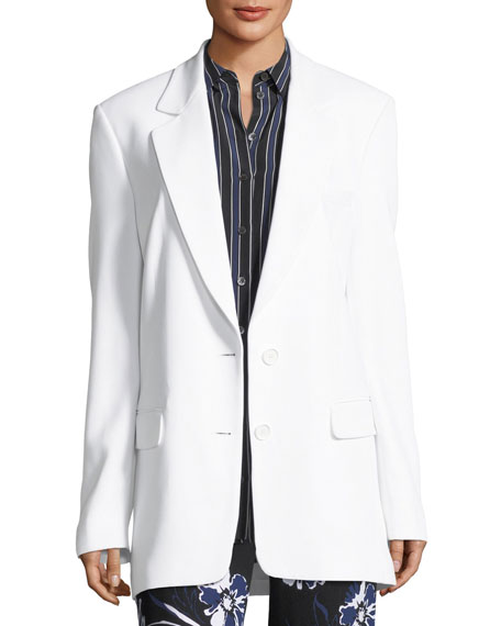 Michael Kors Collection Two-Button Boyfriend Blazer