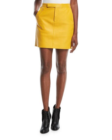 Bennet Short Leather Skirt