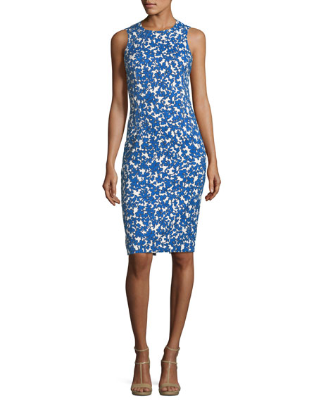 Michael Kors Collection Field Floral-Print Stretch-Matelass??