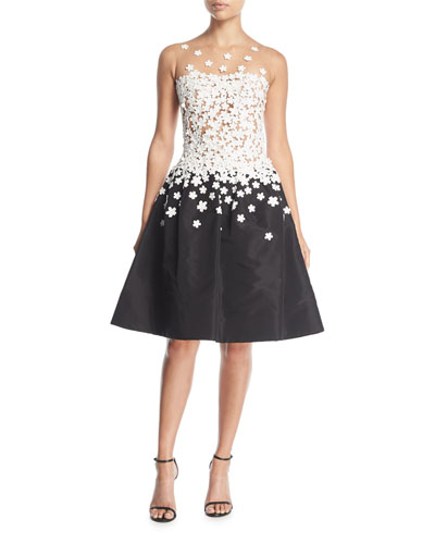 Degrade Floral Cocktail Dress