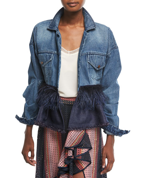 Johanna Ortiz Jose Clemente Button-Front Denim Jacket w/