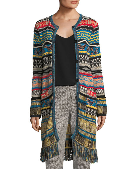 Etro Tapestry Knit 3/4-Length Cardigan and Matching Items