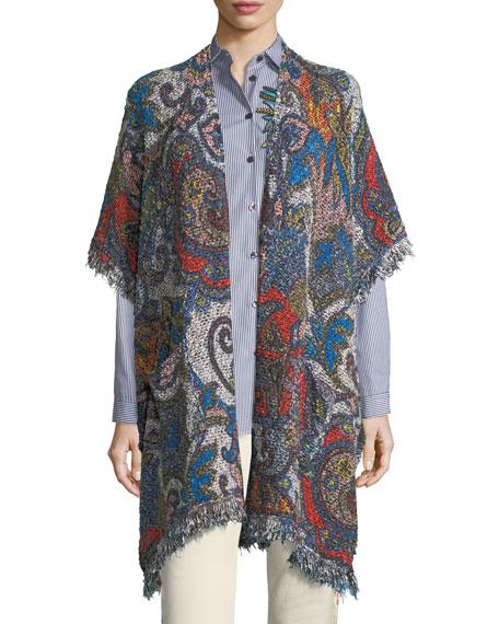 Etro Boucle Floral-Print Vest