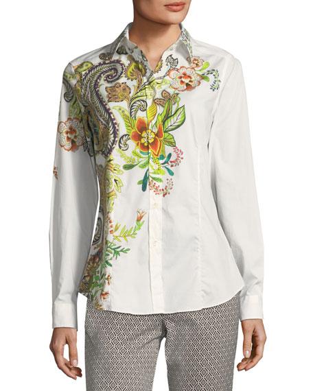 Etro Floral Paisley Poplin Shirt