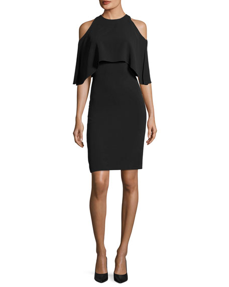 Ralph Lauren Collection Ashley Cold-Shoulder Cocktail Dress