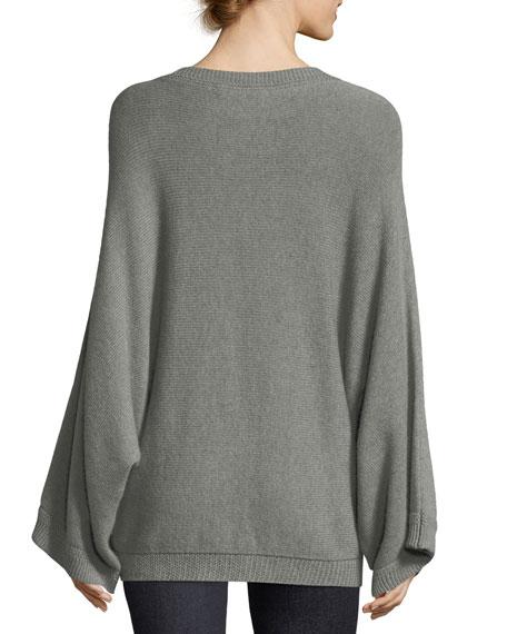 Cashmere-Blend Drop-Shoulder Sweater