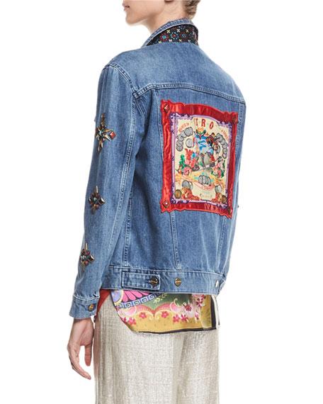Denim Jean Jacket With Studs