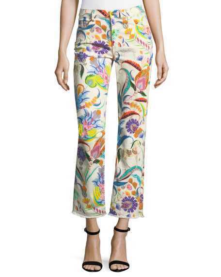 Etro Floral-Print Raw-Hem Jeans and Matching Items
