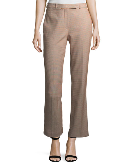 Etro Dobby-Dot Straight-Leg Ankle Pants