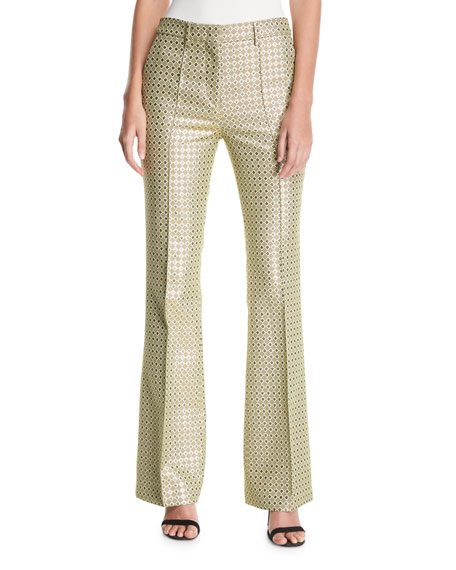 Metallic Dobby Jacquard Pants