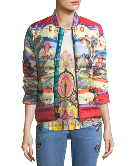 Etro Circus-Print Down Puffer Jacket and Matching Items