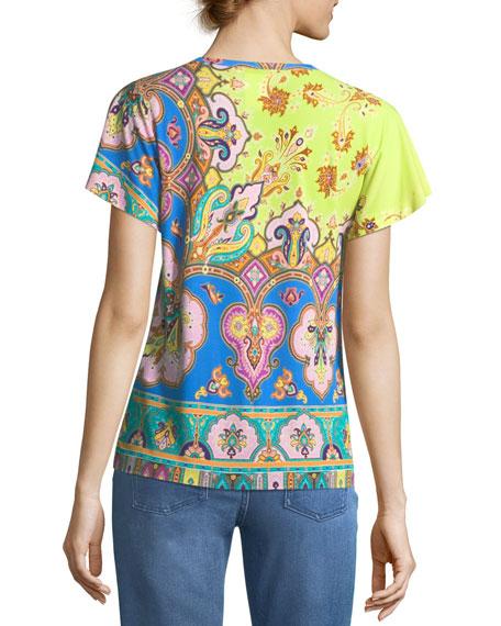Arch Paisley Crewneck T-Shirt